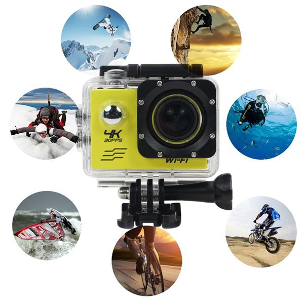 4K Ultra HD WiFi Action Camera Waterproof  2.0 LCD 30FPS Sports Cam