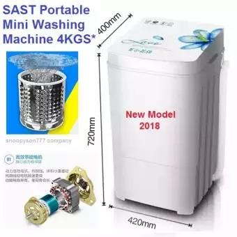 4kgs SAST Semi Auto Portable Mini Washing Machine (Baby / Student)