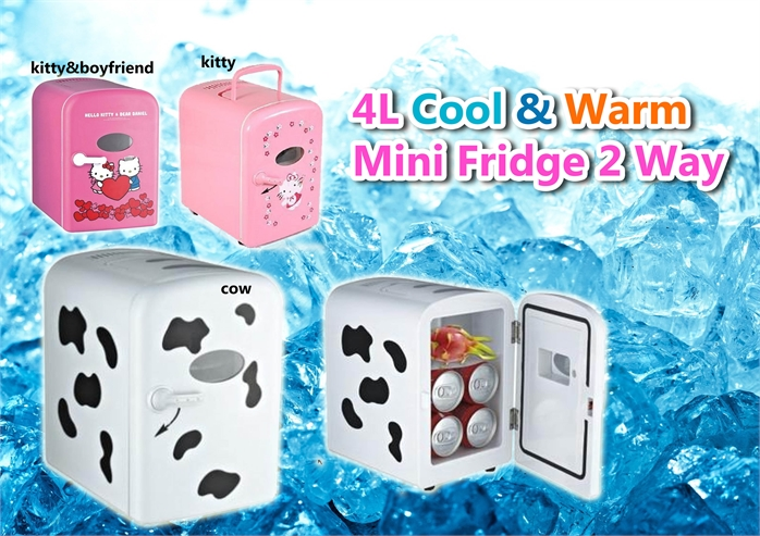 4L Cool  & Warm 2 Way Mini Fridge