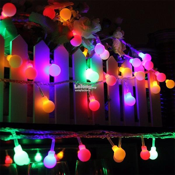 4M 40 LED Battery Ball Fairy Light String Christmas Tree Party Decor