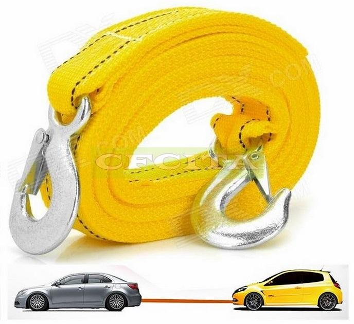4M 5Ton Car Vehicle Boat Tow Strap Towing Rope With Hooks