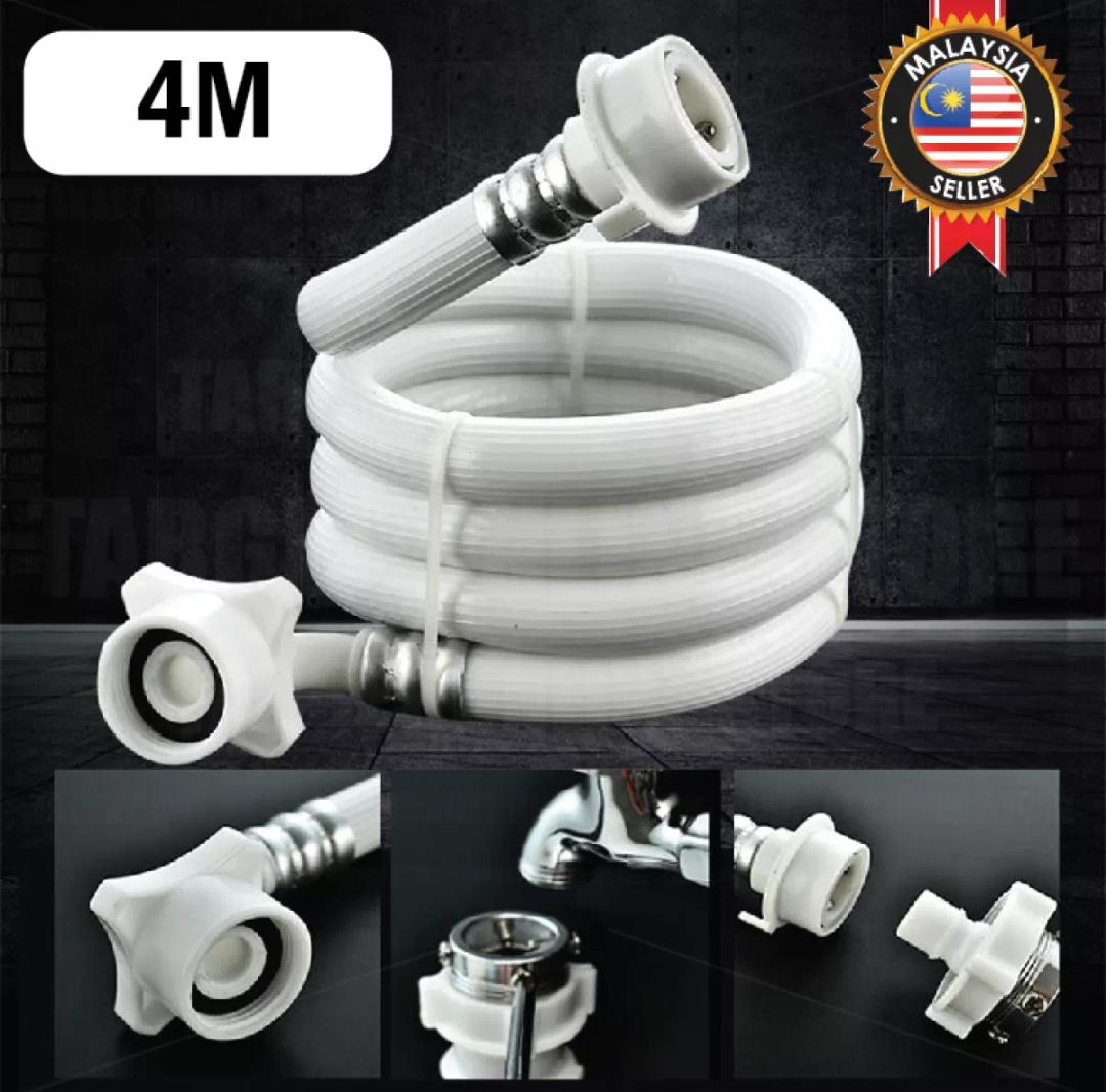 4M Washing Machine Water Inlet Hose Pipe Extended Transfer Head