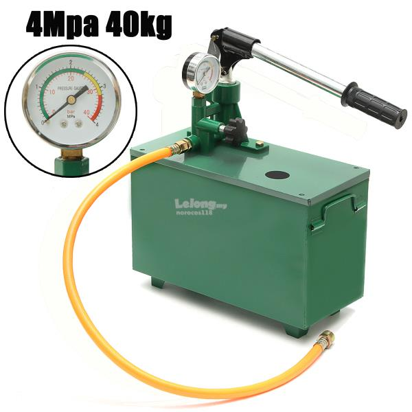 4Mpa 40kg Manual Hydraulic Water Pressure Pump Pipeline Tester Pipelin