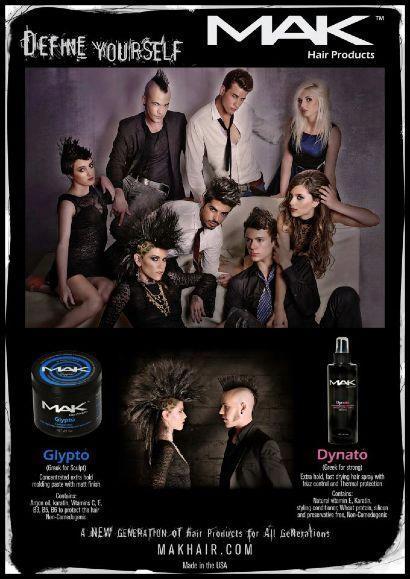 4oz MAK Glypto Pomade Strong Firm Hold Hair Paste