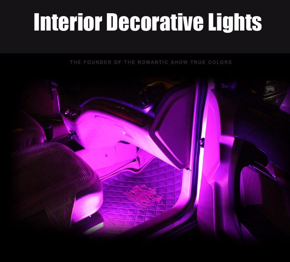 4pcs car interior rgb led strip ligh end 7 20 2017 2 15 pm. Black Bedroom Furniture Sets. Home Design Ideas