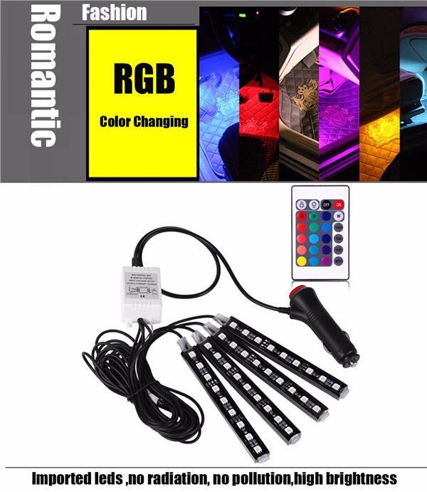 4pcs car interior rgb led strip ligh end 7202017 215 pm 4pcs car interior rgb led strip light with remote control aloadofball Gallery