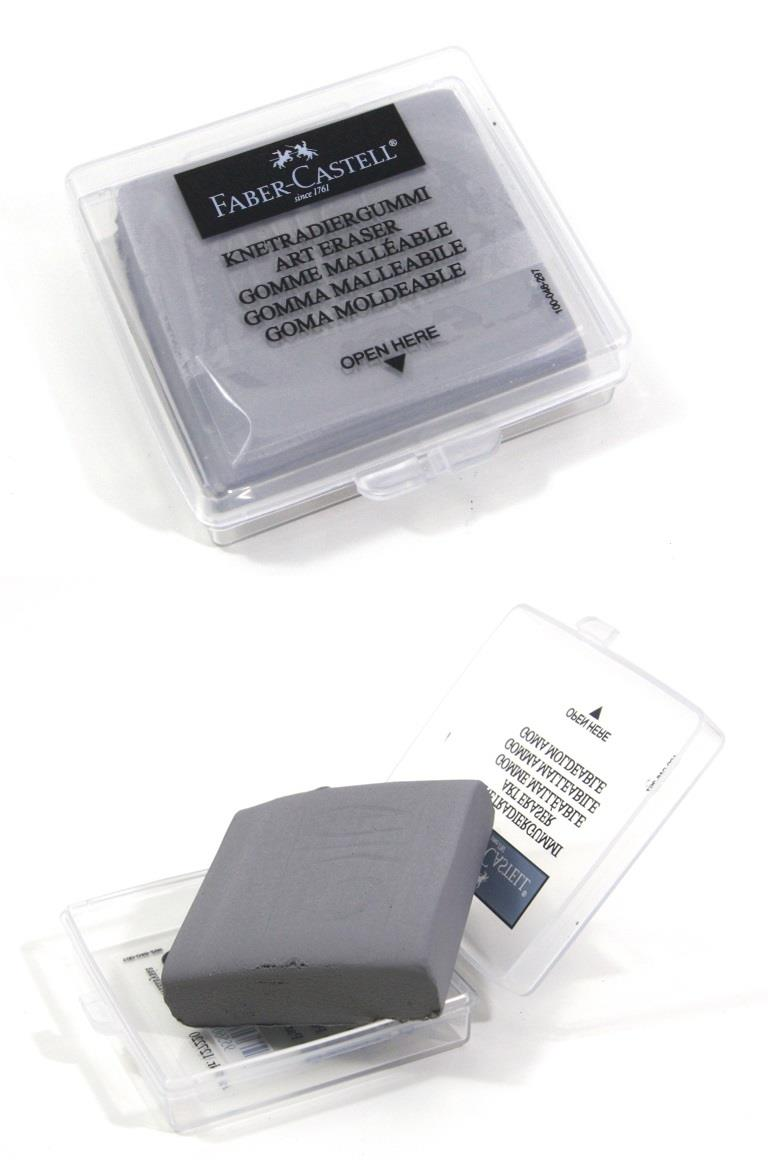 4pcs Faber-Castell Kneadable Art Erasers in Grey