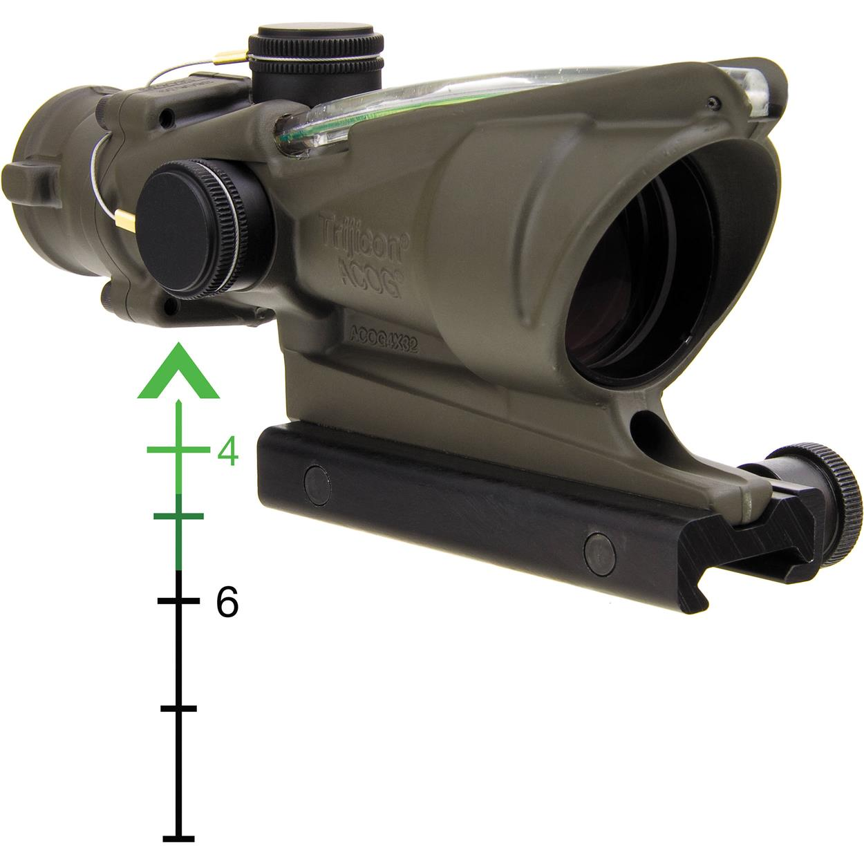 4X32 ACOG TA31 TRIJICON REAL GREEN FIBRE RETICLE