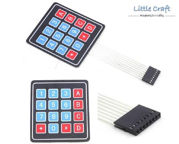 4x4 Matrix Array 16 Key Membrane Switch Keypad for Arduino, Respberry
