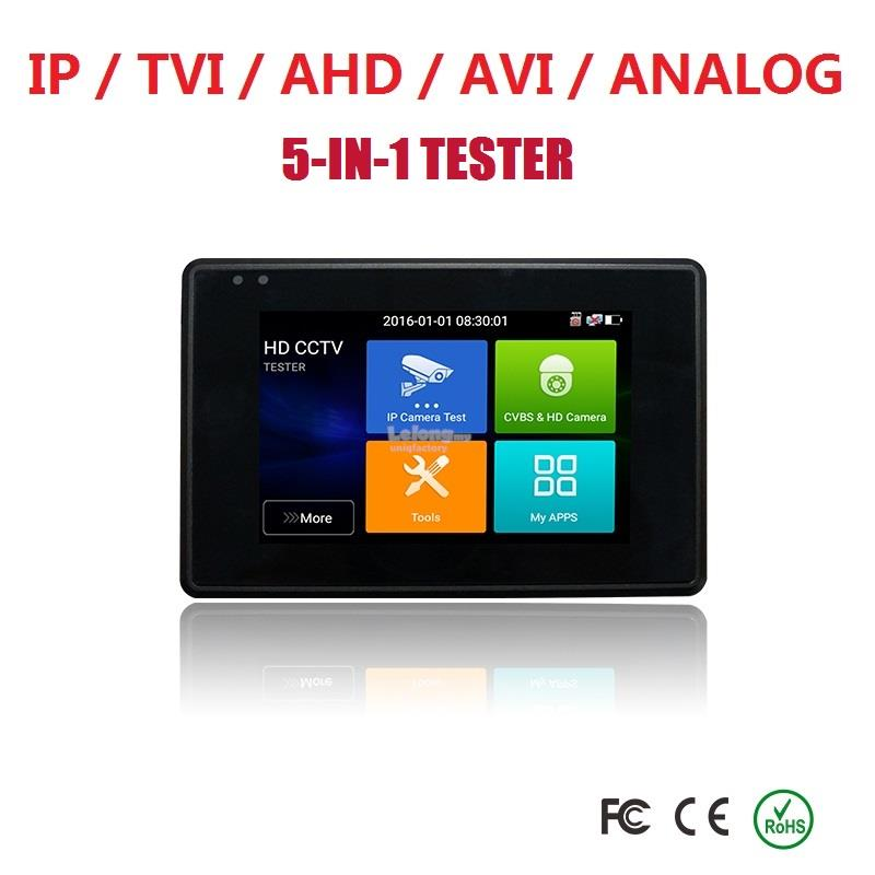 New 5 In 1 CCTV Camera 4 Inch IP TVI CVI AHD Analog PTZ Network Tester