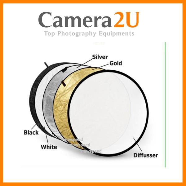 New 5 in 1 Foldable Flash light Reflector 80cm for Portraits 5in1