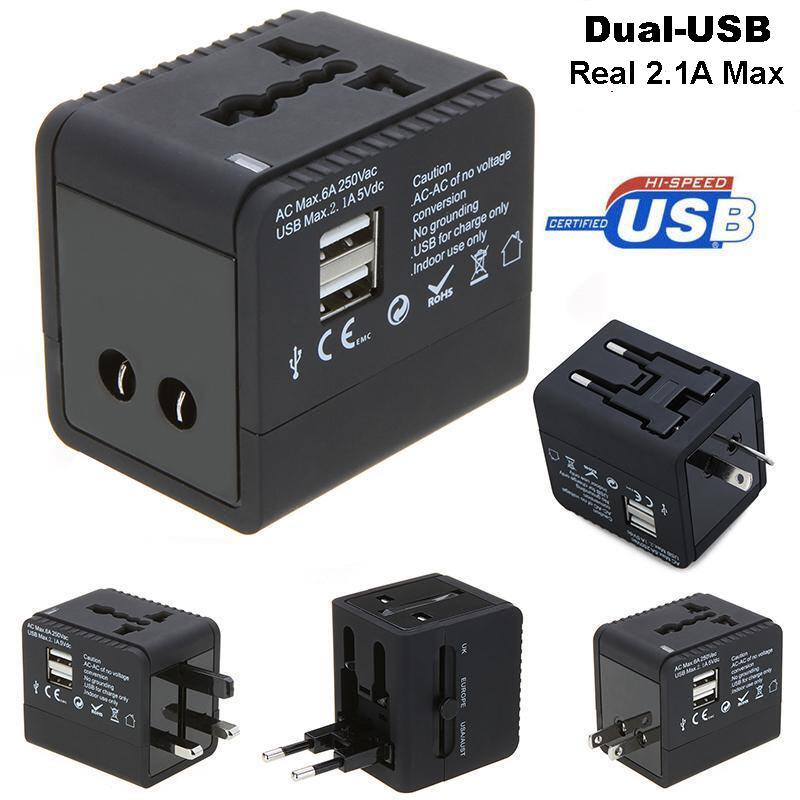 48ba6cea02e53 5 in 1 Universal/International Travel Adapter with 2 USB Port 2.1Amp