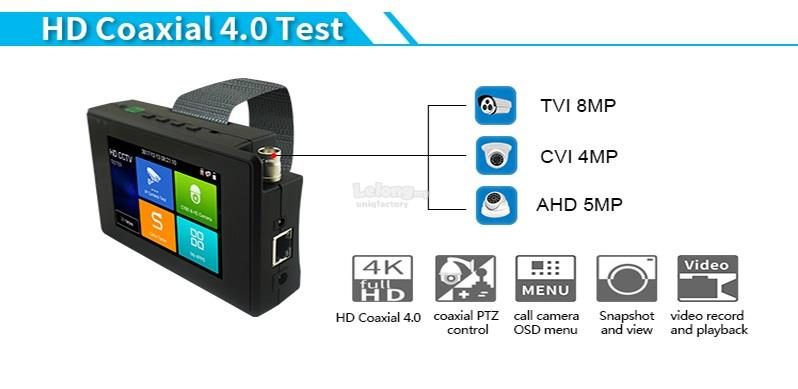 5 In 1 Wrist 4' CCTV Camera IP TVI CVI AHD Analog PTZ Network Tester