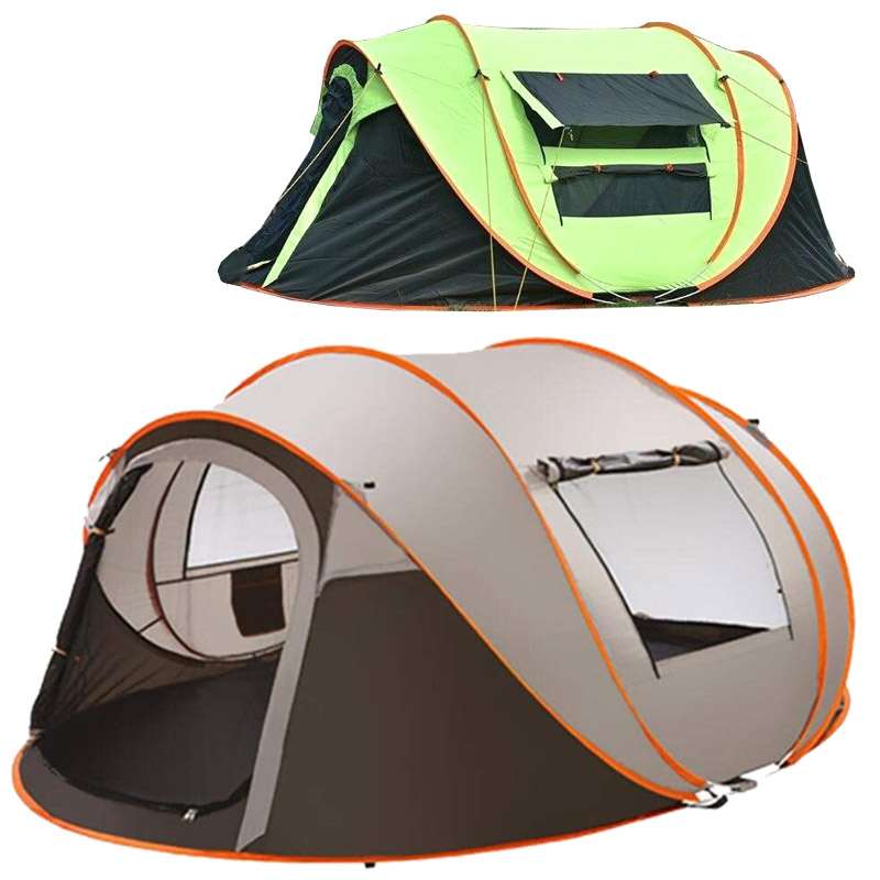 best cheap 9e335 953af 5-8 Person Ultralight Large Camping Tent Windproof Pop Up Tents