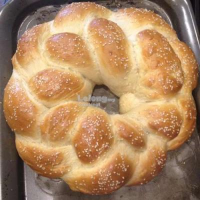 5 in Round Braided Bread Loaf Tin set of 2
