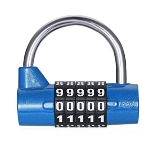 f7077bec5353 5 DIGIT PASSWORD SAFETY LOCK WIDE SHACKLE COMBINATION PADLOCK FOR LUGG