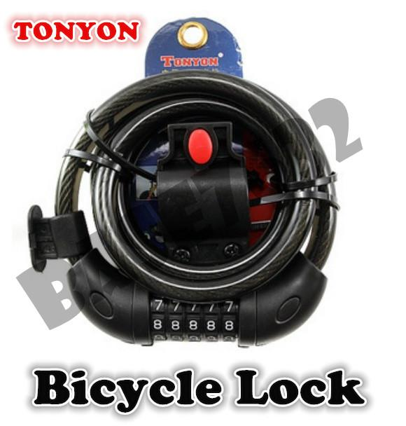 5 Digits TONYON  TY566 Universal Bicycle Combination Password Lock