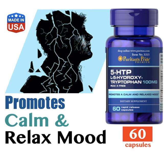 5-HTP  100mg 5HTP, L-tryptophan (Anxiety, Mood, Depression, Relax)