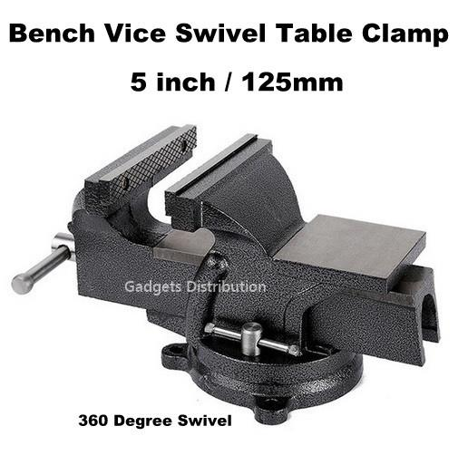 5 inch 5'' 125mm Mechanic Bench Vice Swivel Base Table Clamp 2369.1