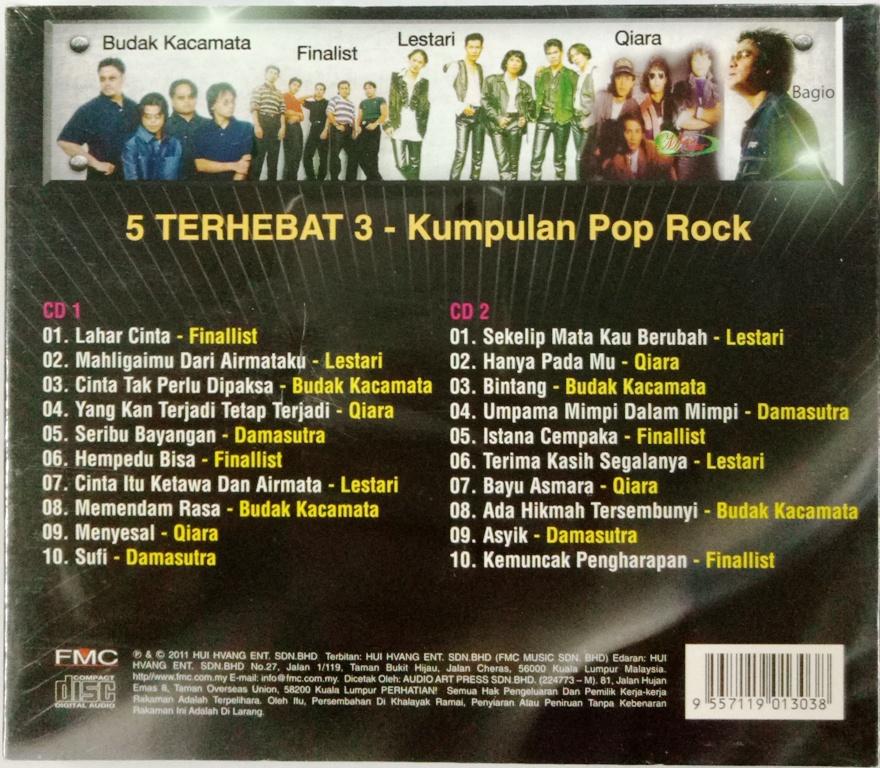5 Kumpulan Pop Rock Terhebat III CD Finalist Budak Kacamata Lestari  Damasutra 6311dc5c77
