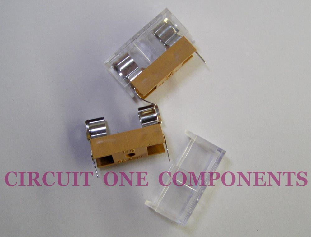 5 x 20mm High Temperature Fuse Holder ( Light Brown ) - Each