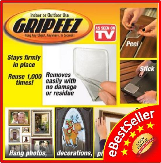 5 X Gripeez StickPad Hang any Object, Anywhere, in seconds!