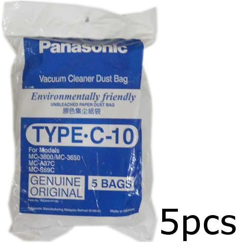 5 X Panasonic Type C 10 Vacuum Cleaner Filter Dust Bag Original Parts