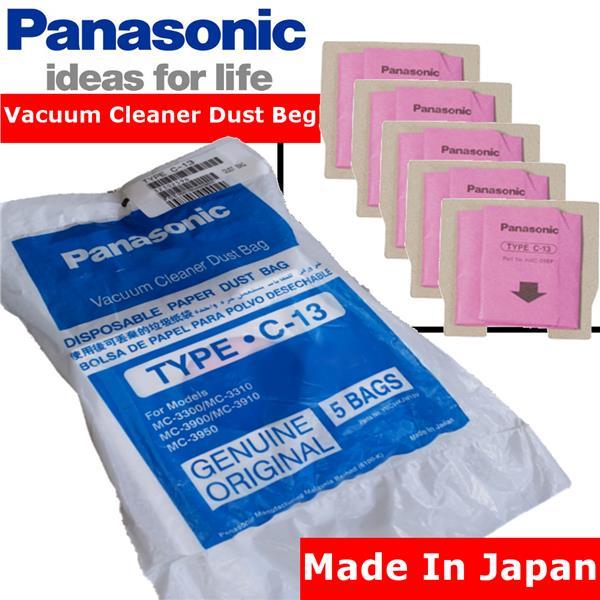5 X Panasonic Type C 13 Vacuum Cleaner Filter Dust Bag Original Parts