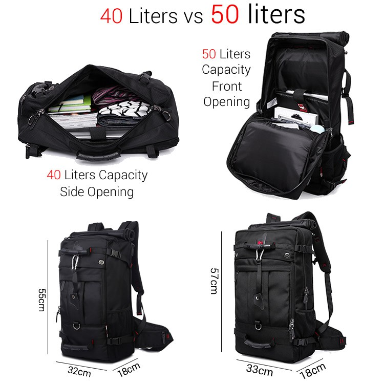 50/40 Liters Upgrade Cushion Padded Heavy Duty Travel Backpack