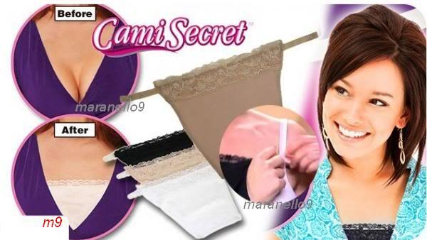 50% OFF!.New Cami Secret- The Quick & Easy Clip-on Camisole 3pcs Pack