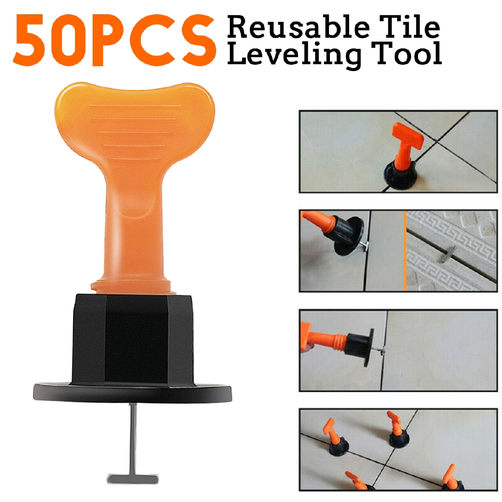 50 PIECE(s) Reusable Anti-lippage Tile Leveling System Positioning Loc