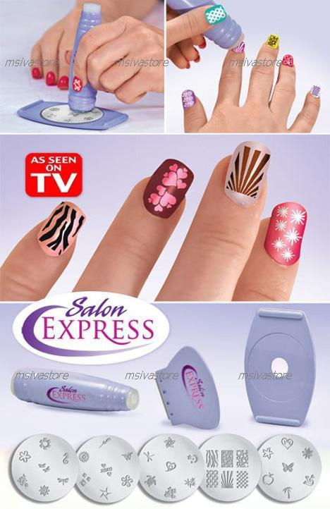 50% OFF!Best Selling Salon Express Nail Art Stamping Kit+FREE Shipping
