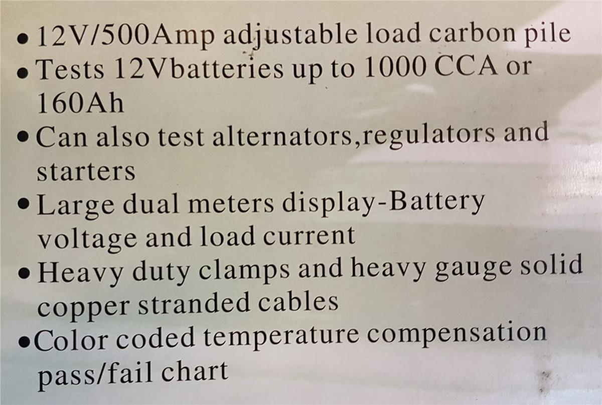 500amp Battery Carbon Pile Load Tester ID117761