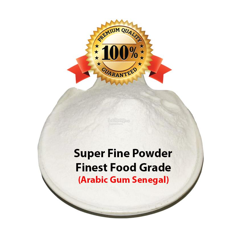 (500G) FINE POWDER GUM ARABIC - REUSABLE ZIPPER PACK