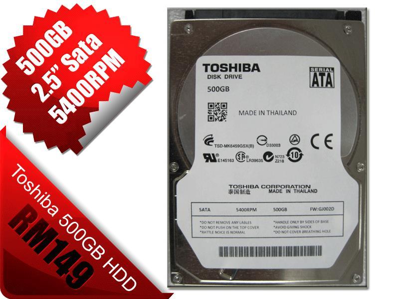 NEW 500GB 25 Sata Toshiba Hdd End 10 9 2019 102 PM