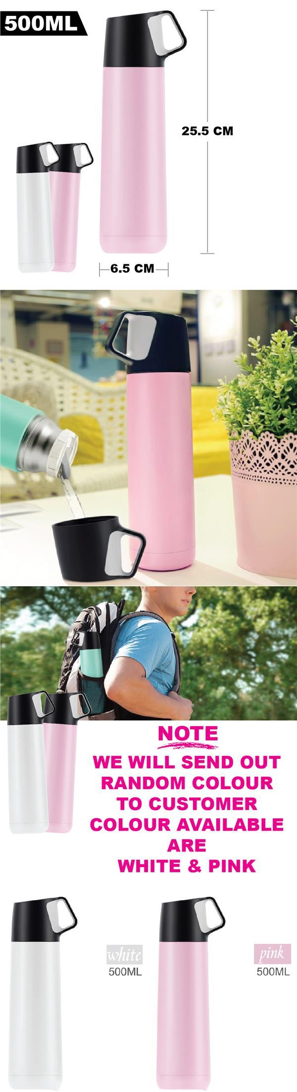 500ML Stainless Steel Vacuum Flask Thermos Cup Heat Preservation