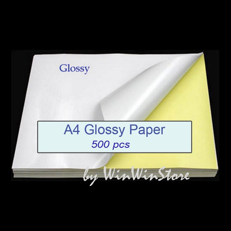 500pcs a4 sticker paper glossy self adhesive printing label laser