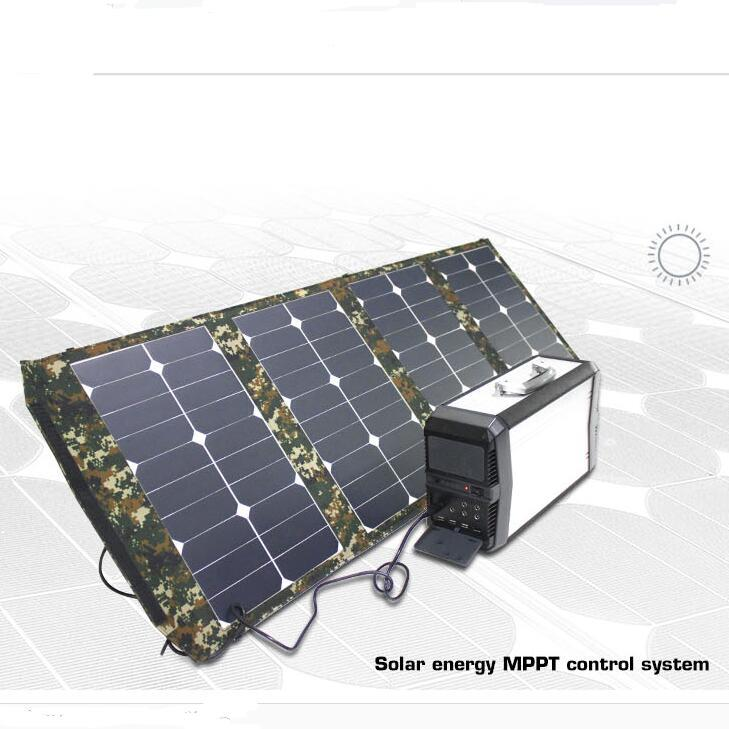 500W Portable Solar Generator Home Outdoor Camping System
