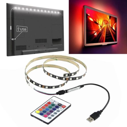 5050 RGB LED Strip Light Bar TV Back Lighting+USB Remote Control