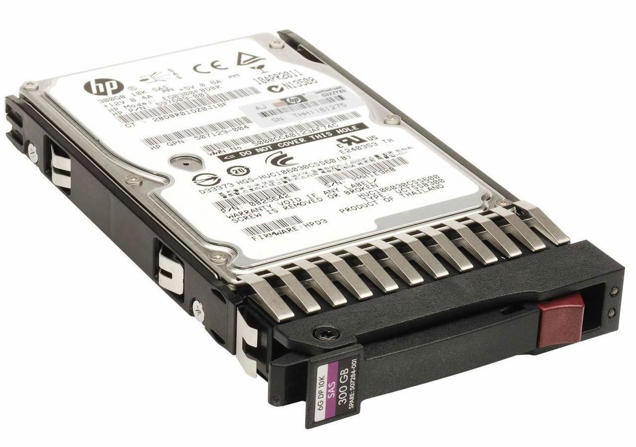 507284-001 - HP 300GB 10K 6G 2.5 SAS DP ENT HDD