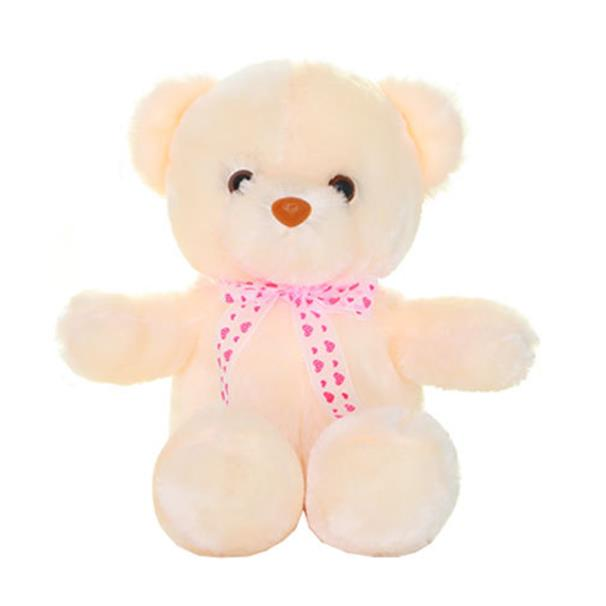 50CM Colorful Glow LED Light Plush Bear Doll Throw Pillow Toy Friends