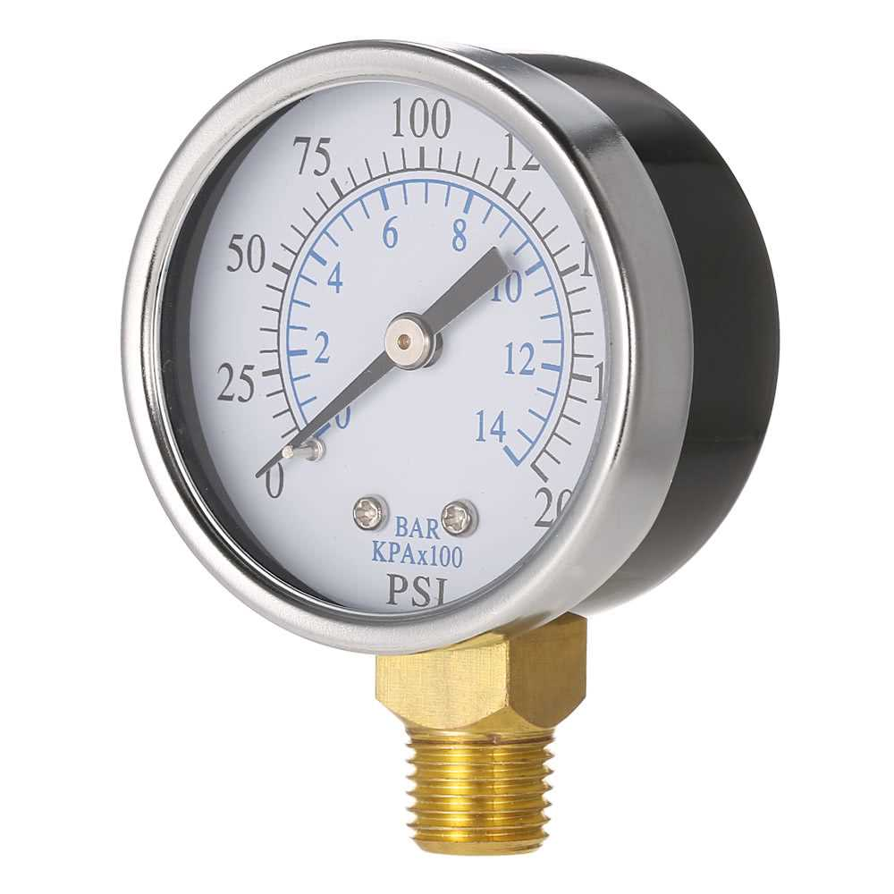 50mm 0~200psi 0~14bar Pool Filter Water Pressure Dial Hydraulic Pressure Gauge