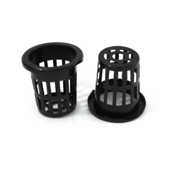 50mm Solid Black Hydroponics Garden Planting Mesh Pot x 10units