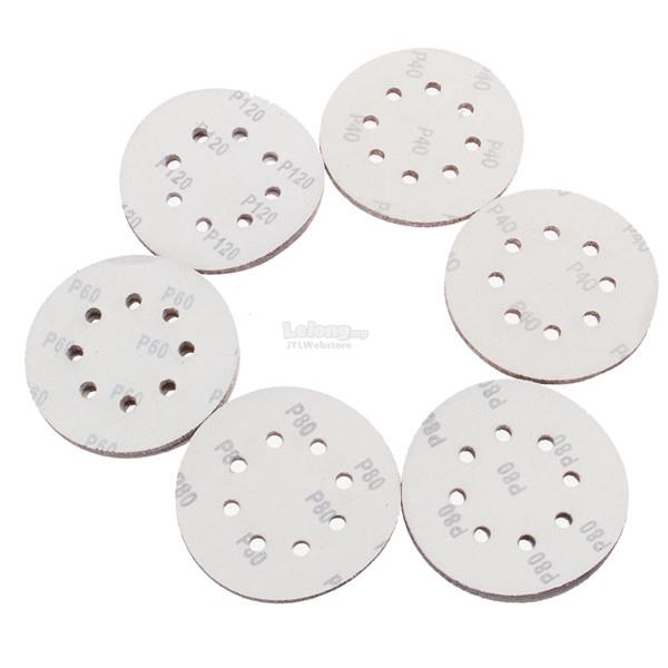 50pcs 125mm 8 Holes Hook Loop Sanding Discs 40/60/80/100/120 Grit Sand