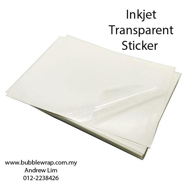 50pcs A3 Inkjet Transparent Sticker Self-Adhesive For Inkjet Printer