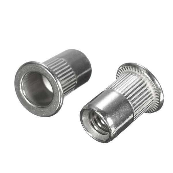 50pcs M6 Thread Rivet Nut Rivnut Insert Nutsert 304 Stainless Steel