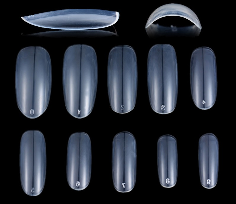 50Pcs Oval Clear Nail Tips Full Co (end 12/24/2020 12:00 AM)