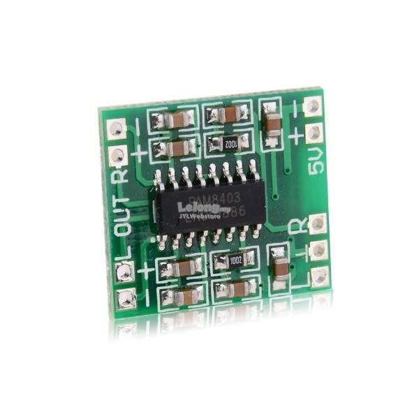50Pcs PAM8403 Miniature Digital USB Power Amplifier Board 2 5V - 5V