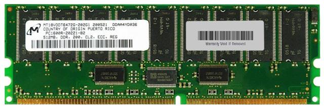 512MB DDR ECC PC-1600R DDR 200 MHZ PC-1600R SERVER RAM