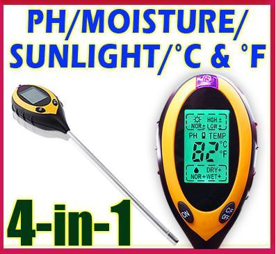 53% Off 4 in 1 Digital Soil Plant  Tester Sunlight/Moisture/Light/PH